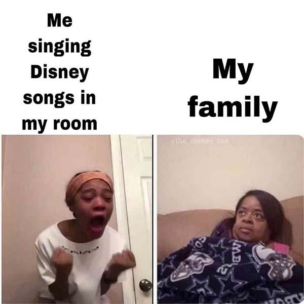 disney meme me singing disney song in my room