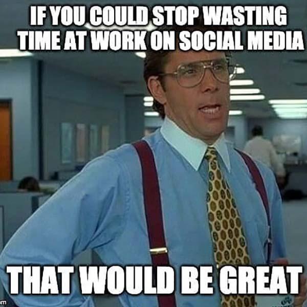 office space meme social media