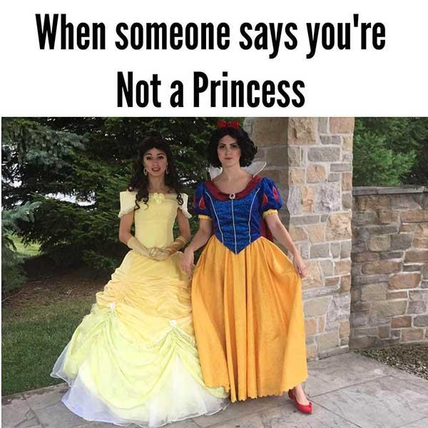 princess meme when someone says...