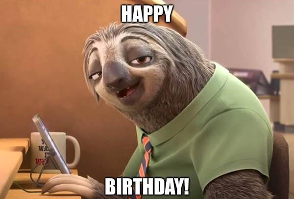 sloth birthday memes