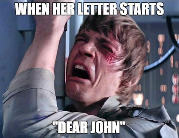 star wars memes clean when the letter start
