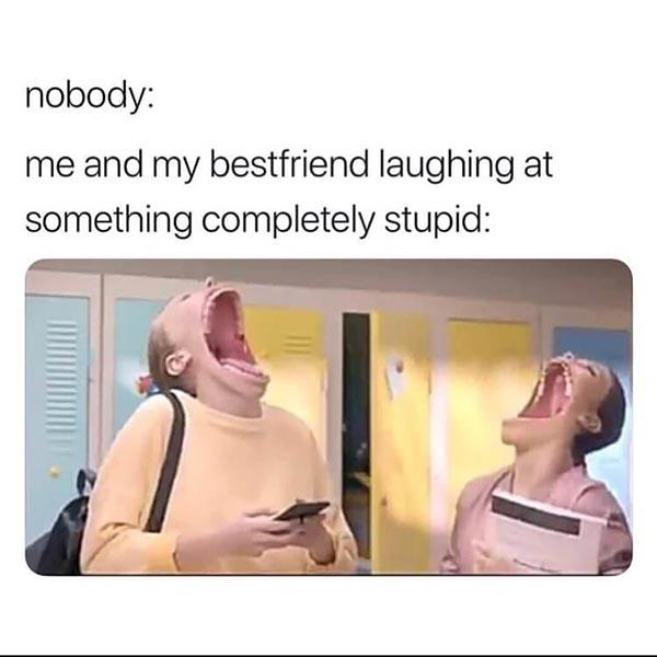 best friend meme me and my best friend laughing...