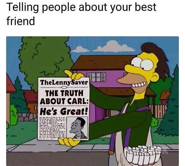 best friend meme telling people about your best friend