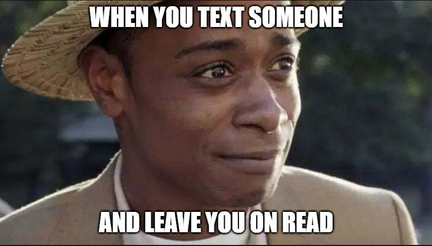 get out meme when you text someone...