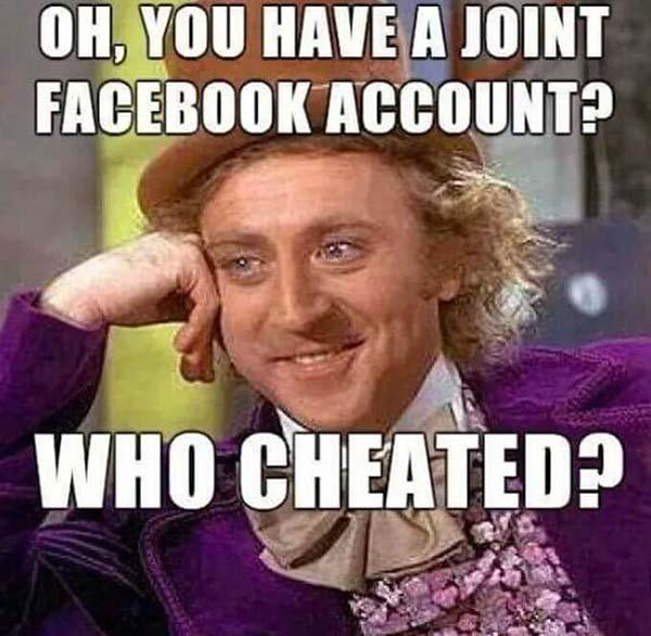 willy wonka meme you have a joint facebook account