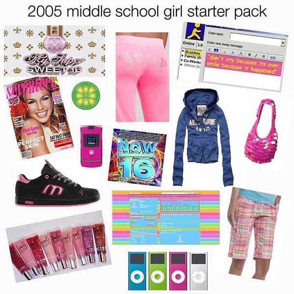 2005 middle school girl starter pack