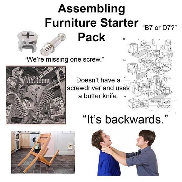 Assembling furniture starter pack