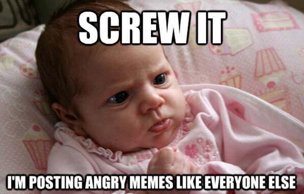 angry baby meme