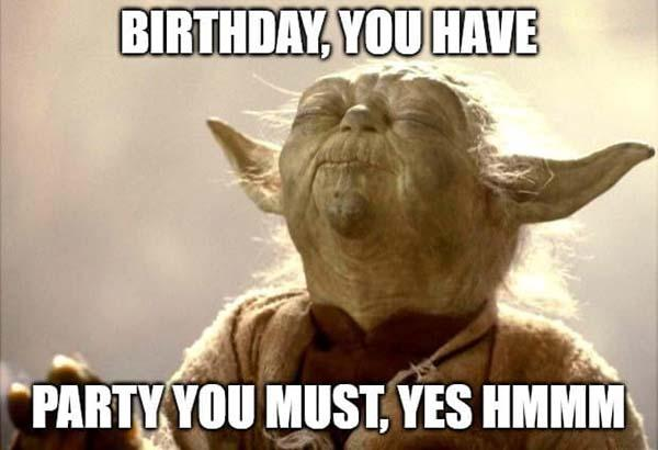 birthday you have yoda birthday meme