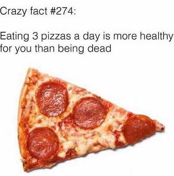 crazy facts... pizza meme