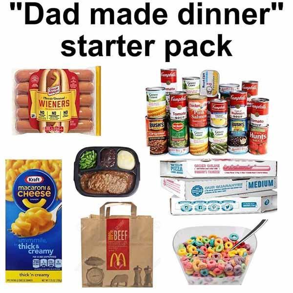 dad starter pack meme