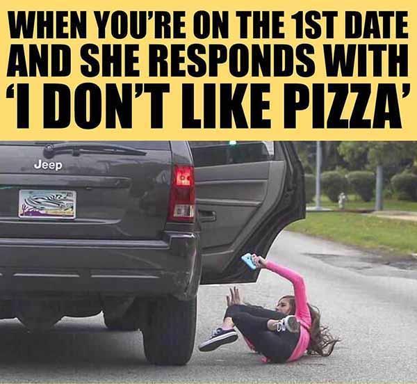 first date... pizza meme