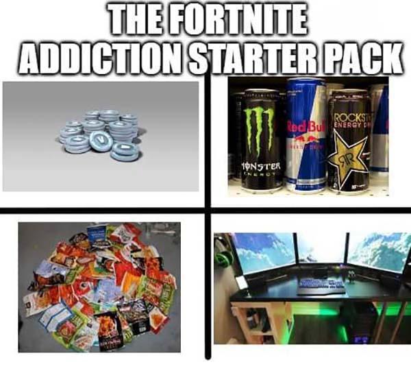 fortnite starter pack meme