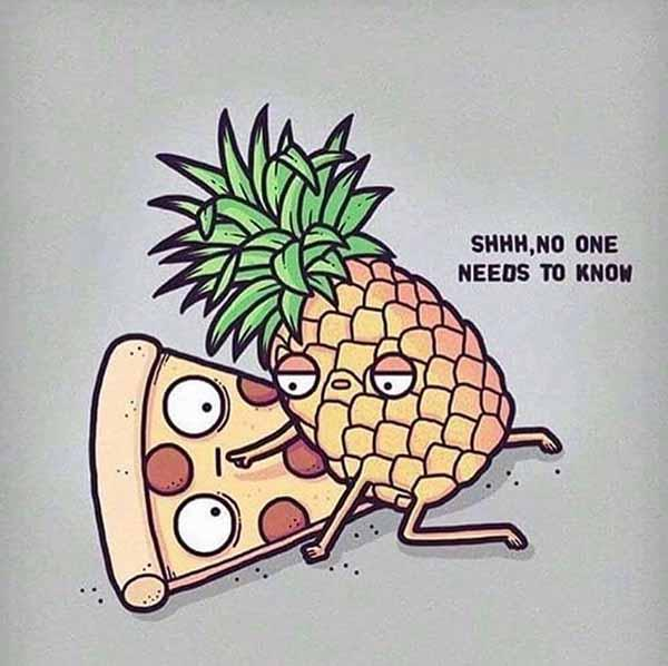 funny pineapple pizza memes
