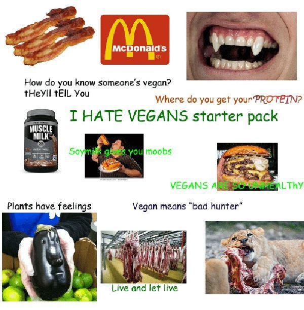 i hate vegan starter pack