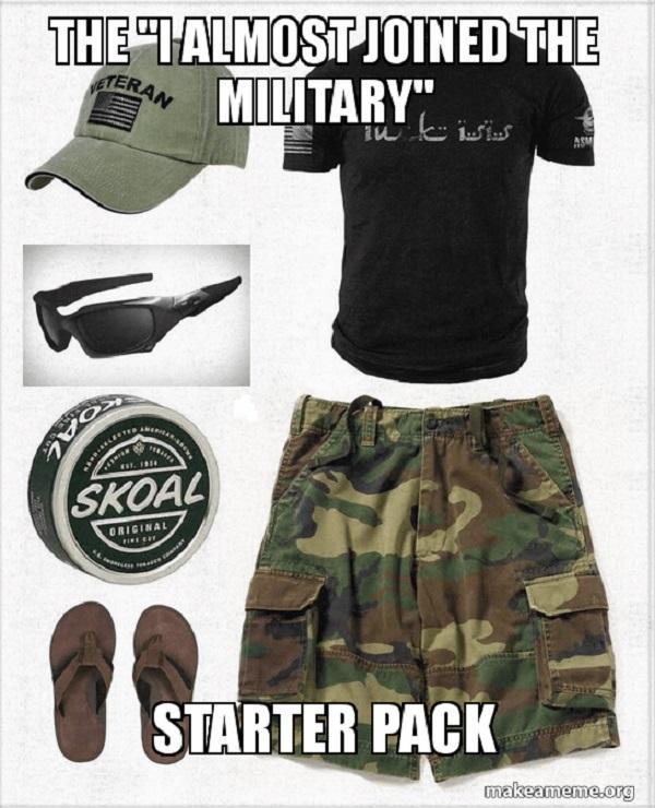 military starter pack memes