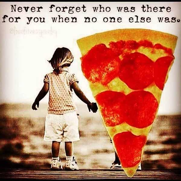 never forget who was there... pizza meme