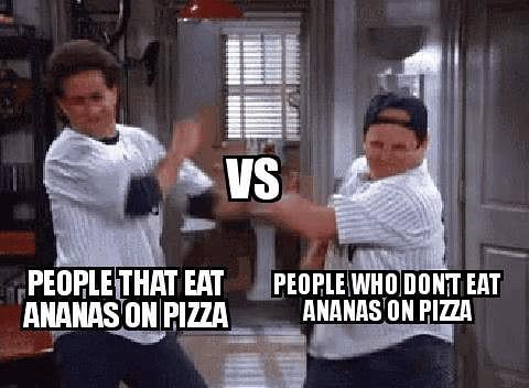 people eat ananas on pizza...