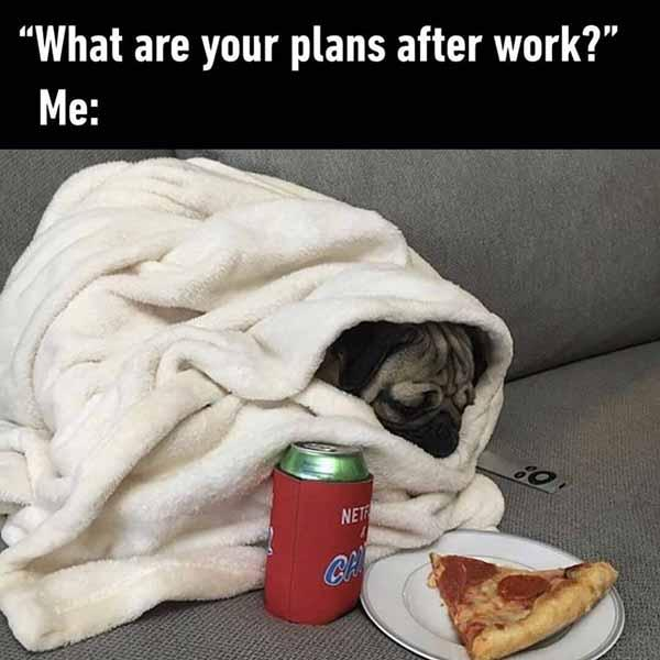 plans after work... pizza meme