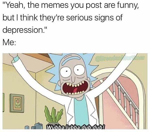 rick and morty memes depression
