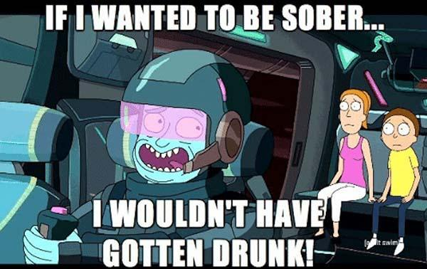 rick and morty memes if i wanted to be sober i wouldnt have gotten drunk