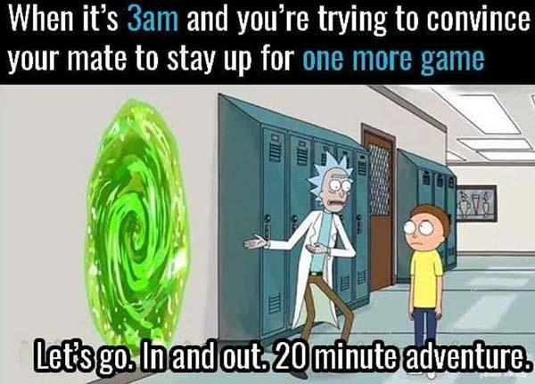 rick and morty memes one more game...