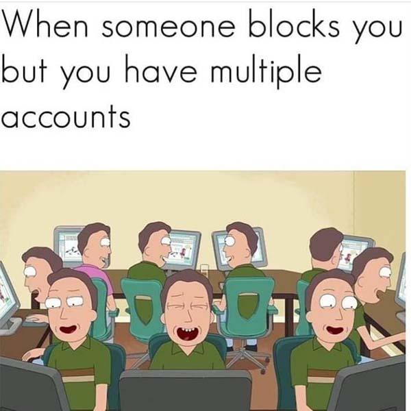 rick and morty memes when someone blocks you...