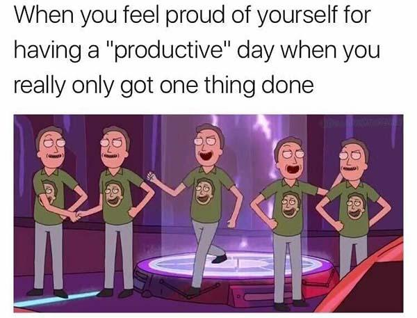 rick and morty memes when you feel proud of yourself...