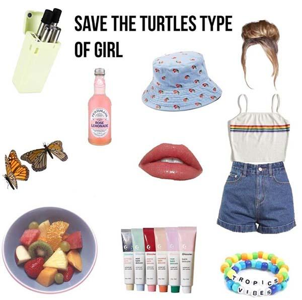 save the turtles type of girl starter pack
