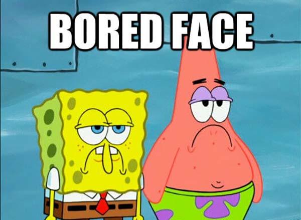 spongebob meme faces bored face
