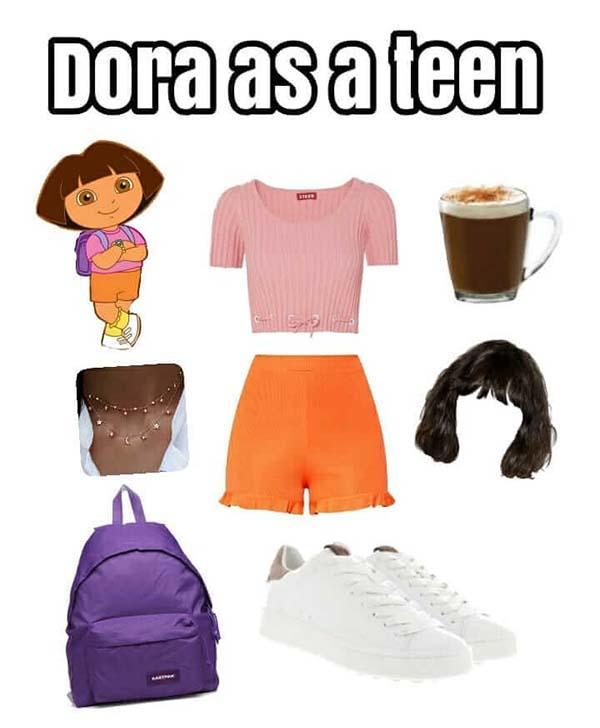 starter pack dora as a teen