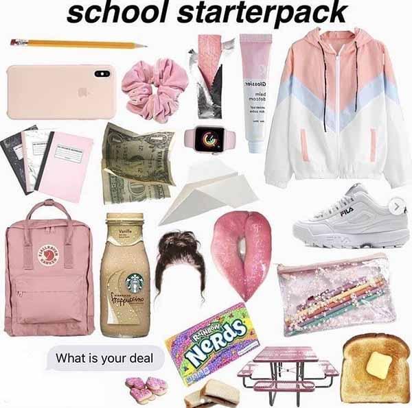 starter pack meme school starter pack
