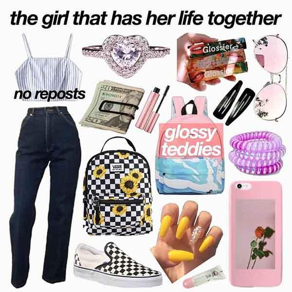the girl that has her life together starter pack