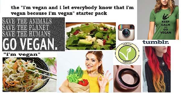vegan starter pack meme