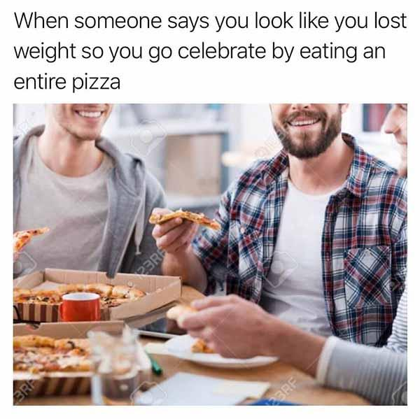 when someone says... pizza meme