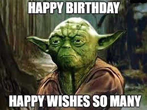 yoda birthday meme