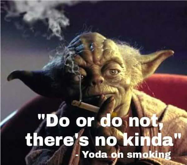 yoda on smoking yoda do or do not meme