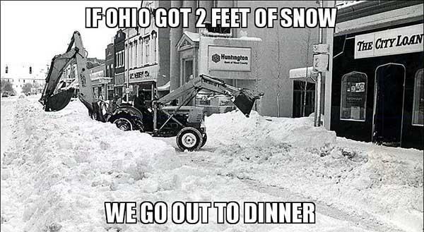 2 feet of snow meme
