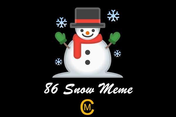 86 Snow Meme