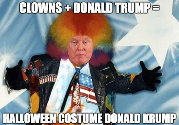 CLOWNS + DONALD TRUMP = HALLOWEEN COSTUME DONALD KRUMP