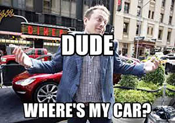Dude Where's my car - Elon Musk Robot
