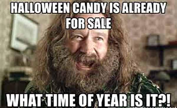 Halloween candy is already for sale what time of year is it