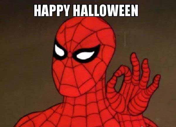 Happy Halloween meme - Spiderman