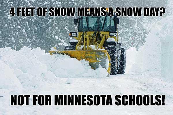 Hilarious Minnesota snow day Memes