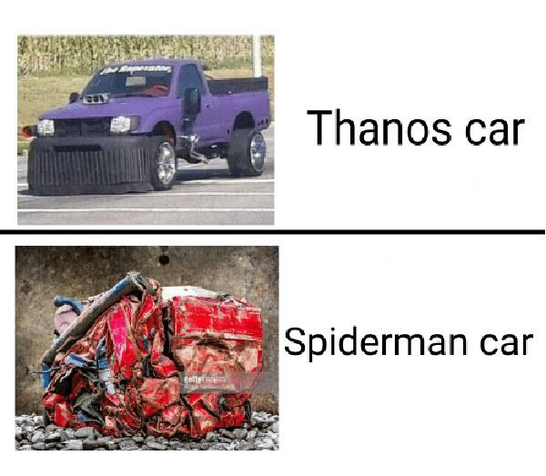 Thanos Car Spiderman Car