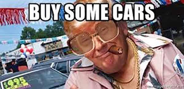 Trump used car salesman