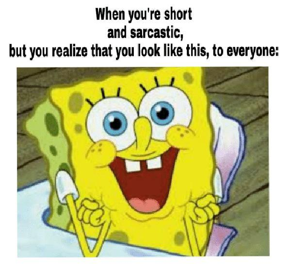When You're Short and Sarcastic... spongebob sarcastic meme