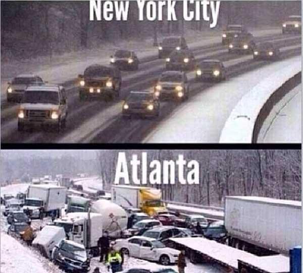 atlanta snow meme
