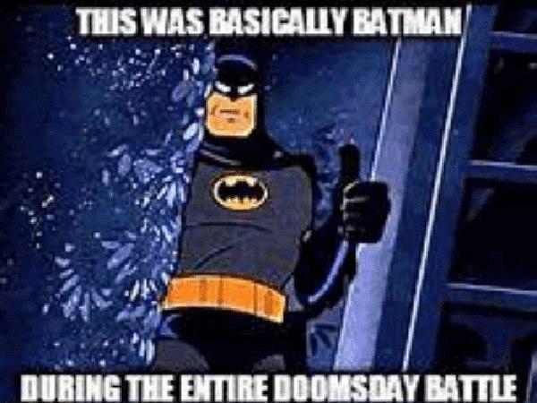 batman vs doomsday meme