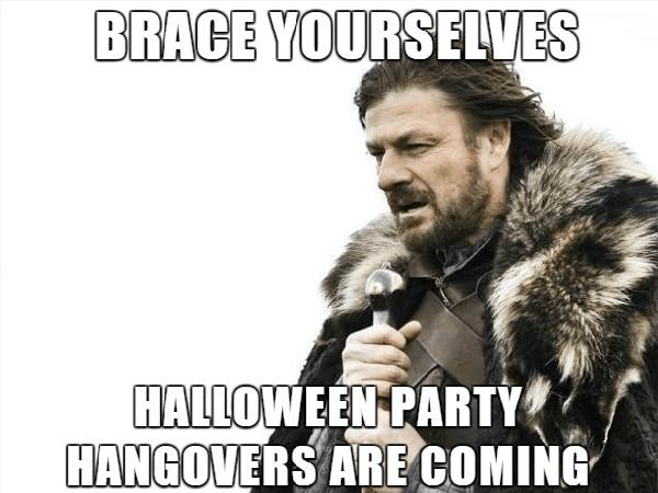 brace yourself halloween party meme